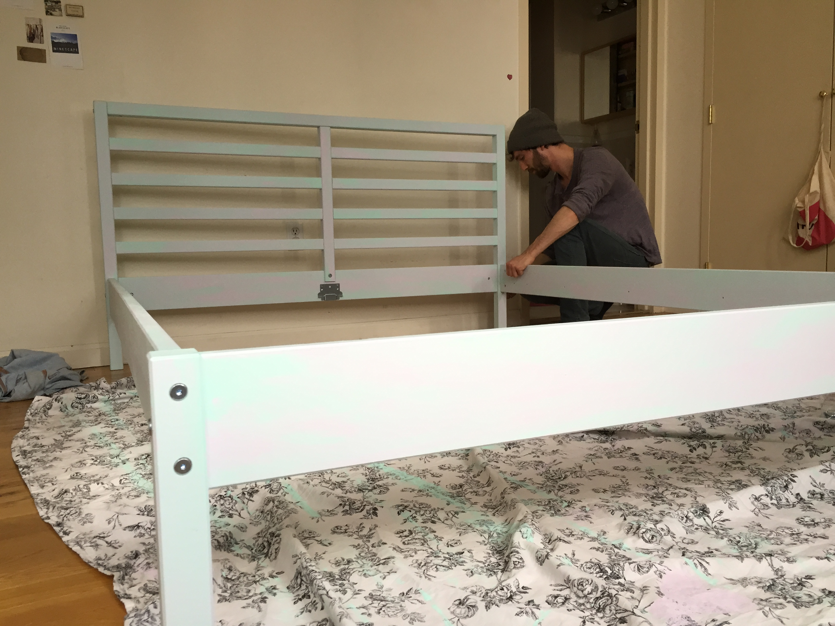 tarva bed frame painted 2